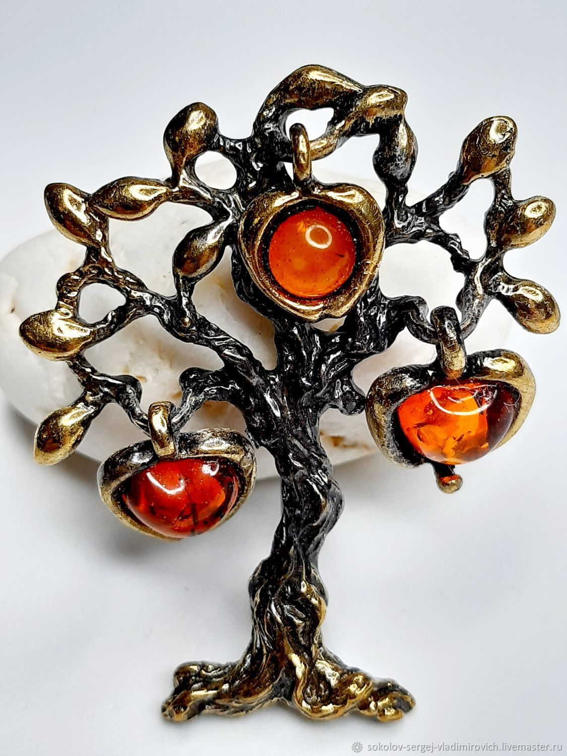 Brooch Apple, Brooches, Moscow,  Фото №1