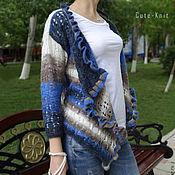 Одежда handmade. Livemaster - original item Openwork knitted cardigan Color Mix. Handmade.