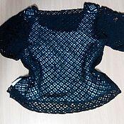 Одежда ручной работы. Ярмарка Мастеров - ручная работа Черный летний пуловер. Handmade.