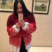 Одежда ручной работы. Ярмарка Мастеров - ручная работа Готовый Кардиган или пальто из ангоры. Вязаный кардиган. Handmade.