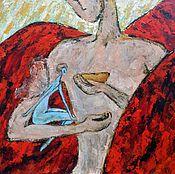 """Картины и панно ручной работы. Ярмарка Мастеров - ручная работа Картина маслом """"Амур и Психея"""". Handmade."""