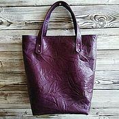 Сумки и аксессуары handmade. Livemaster - original item Shopper made of genuine leather with zipper. Handmade.