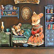 """Картины и панно ручной работы. Ярмарка Мастеров - ручная работа Барельеф """"Сладких снов"""". Handmade."""