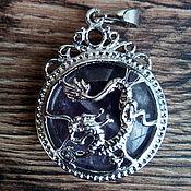 Украшения ручной работы. Ярмарка Мастеров - ручная работа Кулон с драконом, кулон с аметистом. Handmade.