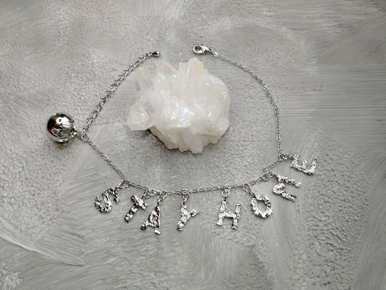 STAY HOME pendant bracelet, Chain bracelet, Moscow,  Фото №1
