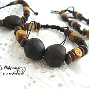 Украшения handmade. Livemaster - original item Bracelet nucleoli oilseeds, African palm!. Handmade.