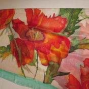 Аксессуары handmade. Livemaster - original item Batik shawl huge size
