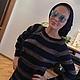 """Платья ручной работы. Заказать Платье вязаное """"Ассиметрия"""". Tatyana Maslakova. Ярмарка Мастеров. Золотистый, авторская работа, полосатый"""