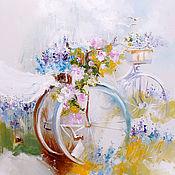 Картины и панно handmade. Livemaster - original item Blooming in the clouds. Handmade.