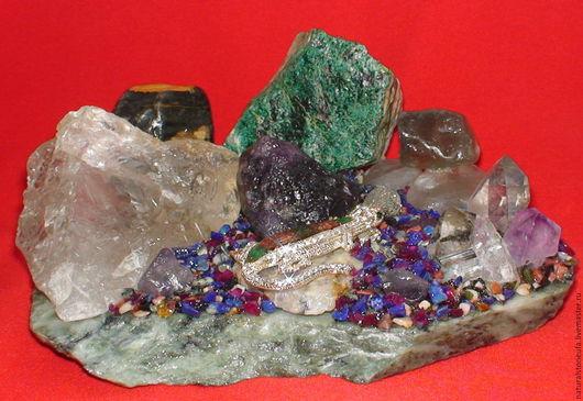 Подарочные наборы ручной работы. Ярмарка Мастеров - ручная работа. Купить Сувенир из натуральных камней Ящерица 3. Handmade. Разноцветный