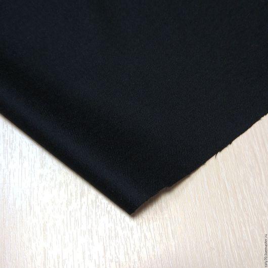 Шитье ручной работы. Ярмарка Мастеров - ручная работа. Купить Костюмная ткань (фланель), Biella, арт. 41072. Handmade. черный