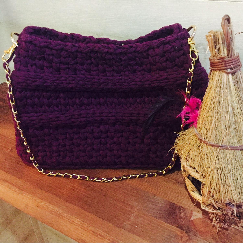 Вязанная сумка «Бизнес women» из трикотажной пряжи, Сумка-шоппер, Самара,  Фото №1