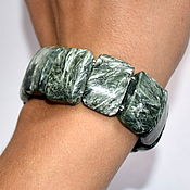 Украшения handmade. Livemaster - original item Bracelet genuine serafinite. Handmade.
