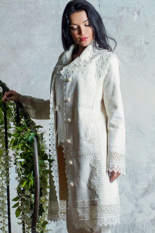 Верхняя одежда ручной работы. Ярмарка Мастеров - ручная работа. Купить Пальто на весну! Пальто дизайнерское! Пальто белое!. Handmade.