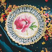"""Тарелки ручной работы. Ярмарка Мастеров - ручная работа Тарелка-салатница """"Пион"""". Handmade."""