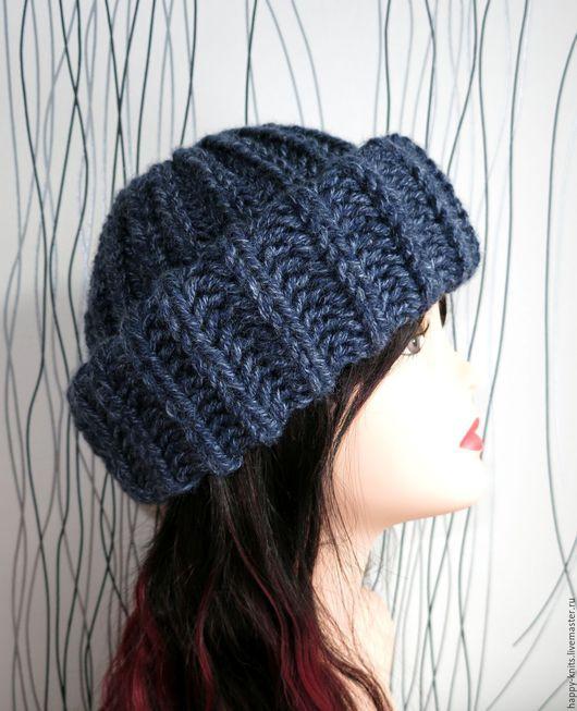 """Шапки ручной работы. Ярмарка Мастеров - ручная работа. Купить """"Trendy!"""" - модная объемная зимняя шапка с отворотом, зима 2016. Handmade."""