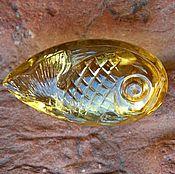 Рыбка Настя. Цитрин. 30 карат.
