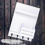 handmade. Livemaster - original item White wall-mounted housekeeper. Handmade.