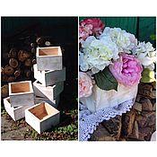 Для дома и интерьера ручной работы. Ярмарка Мастеров - ручная работа ящики деревянные без декора. Handmade.