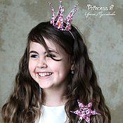 """Украшения ручной работы. Ярмарка Мастеров - ручная работа Корона для принцессы """"Princess"""". Handmade."""
