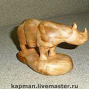 """Для дома и интерьера ручной работы. Ярмарка Мастеров - ручная работа Статуэтка из дерева ручной работы """"Носорог"""". Handmade."""