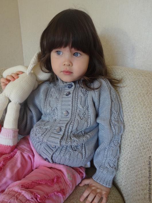 Одежда унисекс ручной работы. Ярмарка Мастеров - ручная работа. Купить Кофта детская на пуговицах кофточка вязаная. Handmade. Серый