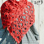 Аксессуары ручной работы. Ярмарка Мастеров - ручная работа Красный вязаный шарф «Жар-птица». Handmade.