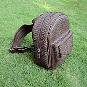 Сумки и аксессуары handmade. Livemaster - original item Backpack Python skin CITY. Handmade.