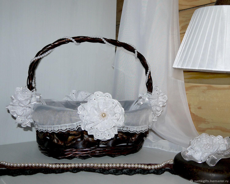 Корзина плетеная декорированная Сон Белоснежки, Корзины, Москва,  Фото №1