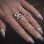 Украшения handmade. Livemaster - original item Vintage Tiger Signet Ring. Handmade.