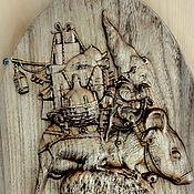 Картины и панно handmade. Livemaster - original item Wooden panel Traveler. Handmade.