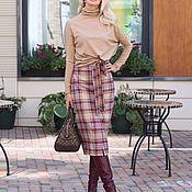 Одежда handmade. Livemaster - original item Autumn skirt made of costume viscose lined Bright autumn. Handmade.