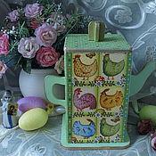 """Для дома и интерьера ручной работы. Ярмарка Мастеров - ручная работа Чайный домик """" Пасхальный"""". Handmade."""