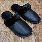 Обувь ручной работы handmade. Livemaster - original item Men`s slippers with leather upper. Handmade.