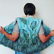 Одежда ручной работы. Ярмарка Мастеров - ручная работа Жилет валяный двусторонний. Handmade.