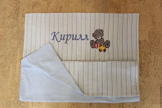 Пледы и одеяла ручной работы. Ярмарка Мастеров - ручная работа. Купить Велюровое детское одеялко с вышивкой. Handmade. Велюровое одеяло