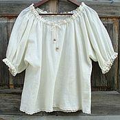 Blouses handmade. Livemaster - original item Blouse summer in a rustic style. Handmade.