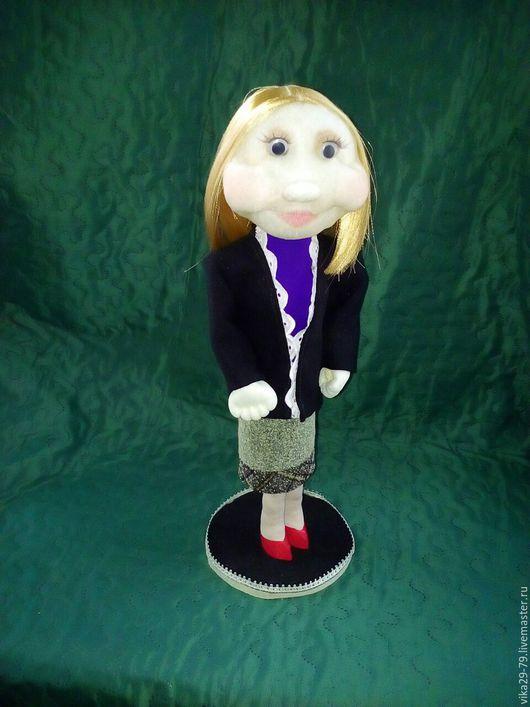 Человечки ручной работы. Ярмарка Мастеров - ручная работа. Купить Кукла учитель. Handmade. Комбинированный, кукла в подарок, ленты атласные