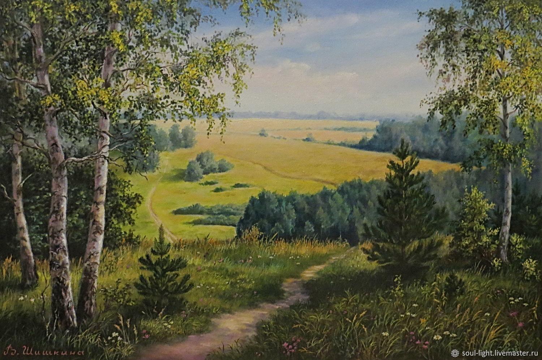 Пейзаж с березками, Картины, Москва,  Фото №1