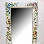 """Зеркала ручной работы. Ярмарка Мастеров - ручная работа Зеркало настенное """"Садовые цветы"""". Handmade."""