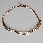 Винтаж handmade. Livemaster - original item Vintage jewellery diamante necklace. Handmade.