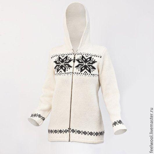 Кофты и свитера ручной работы. Ярмарка Мастеров - ручная работа. Купить Женский свитер. Handmade. Белый, шерстяной свитер