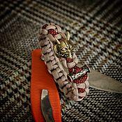 Украшения handmade. Livemaster - original item A braided paracord bracelet with a demon, a bracelet with a mask. Handmade.