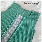 Работы для детей, handmade. Livemaster - original item Crocheted baby sundress crochet Mint breeze. Handmade.