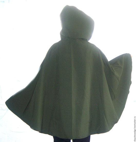 Этническая одежда ручной работы. Ярмарка Мастеров - ручная работа. Купить Накидка эльфийская болотного цвета. Handmade. Накидка, сказочный