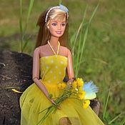 """Куклы и игрушки ручной работы. Ярмарка Мастеров - ручная работа Комплект """"Летнее солнце"""" для куклы 27-30 см Аутфит. Handmade."""