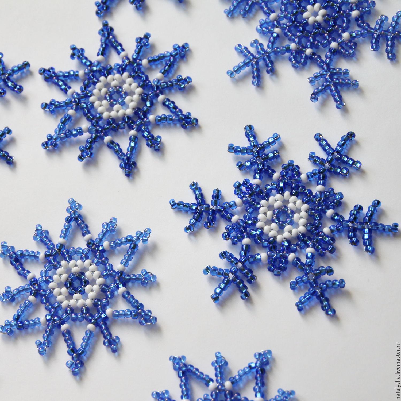 Бисер снежинки мастер классы