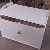 Комоды ручной работы. Ярмарка Мастеров - ручная работа Ящик для игрушек большой с ручками и доводчиком. Handmade.