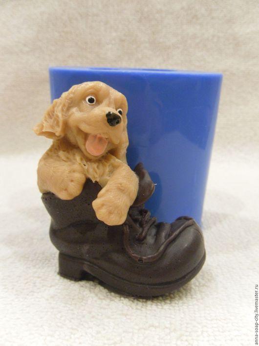 """Другие виды рукоделия ручной работы. Ярмарка Мастеров - ручная работа. Купить Силиконовая форма для мыла """"Щенок в ботинке"""". Handmade."""