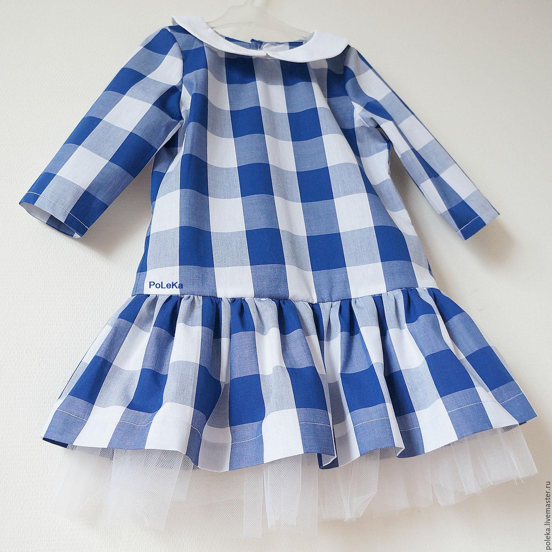Фото платья для девочки в клетку